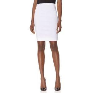 Sleek White Pencil Skirt